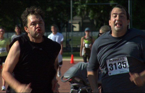Mark Kelly and Steve Zissis in a scene from Mark and Jay Duplass' film The Do-Deca Pentathlon