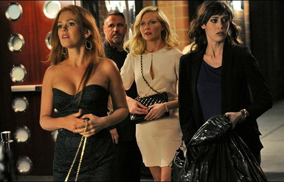 "Isla Fisher, Kirsten Dunst and Lizzy Caplan in Leslye Headland's film ""Bachelorette"""