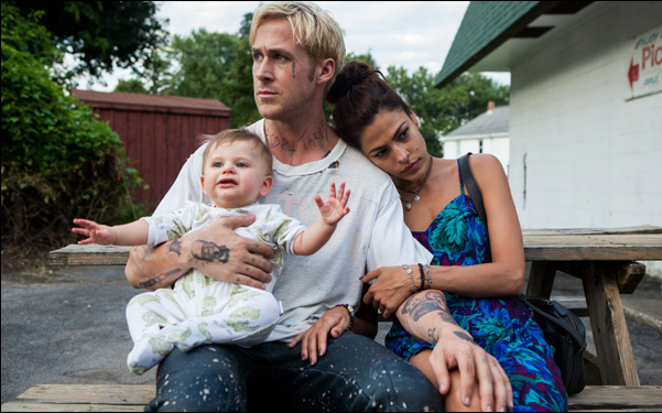 """Ryan Gosling and Eva Mendes in Derek Cianfrance's """"The Place Beyond the Pines"""""""