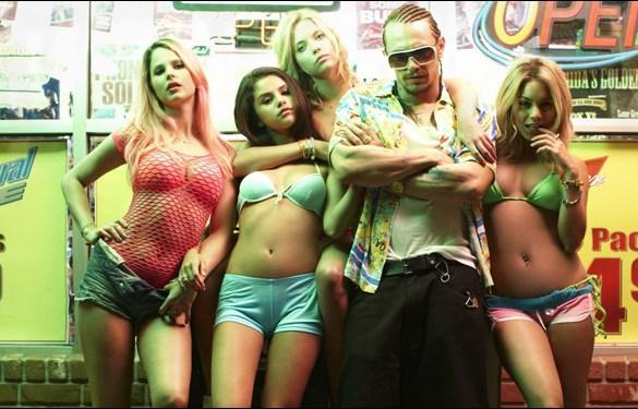 """Rachel Korine, Selena Gomez, Ashley Benson, James Franco and Vanessa Hudgens in Harmony Korine's film """"Spring Breakers"""""""