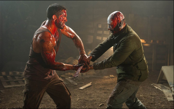 "Scott Adkins and Jean Claude Van Damme in John Hyams' film ""Universal Soldier: Day of Reckoning"""
