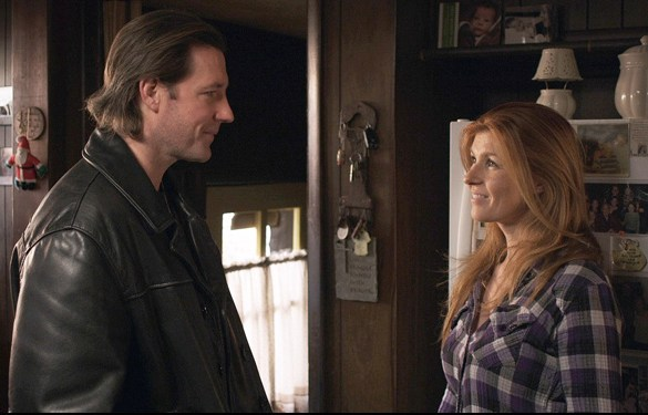 "Ed Burns and Connie Britton in a scene from ""Fitzgerald Family Christmas"""