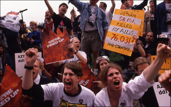 """A scene of AIDS activists in David France's documentary """"How to Survive a Plague"""""""