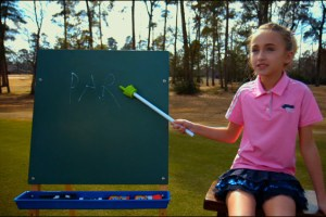 Sky Sudberry in a scene from Josh Greenbaum's golf movie The Short Game