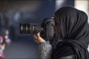 Farzana Wahidy in a scene from Alexandria Bombach and Mo Scarpelli's film Frame By Frame