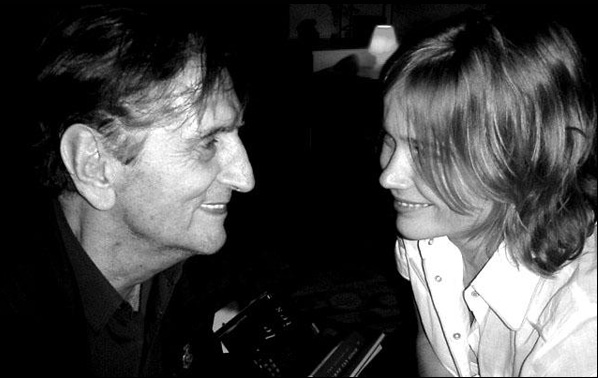 "Harry Dean Stanton and Sophie Huber in a scene from ""Harry Dean Stanton: Partly Fiction"""