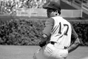 "Dock Ellis pitching for the Pittsburgh Pirates in a scene from ""No No: A Dockumentary"""