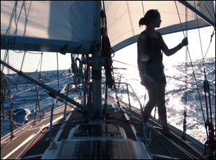 """Laura Dekker sailing in Jillian Schlesinger's """"Maidentrip"""""""