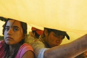 """Paulina Gaitan and Marco Antonio Aguirre in """"Sin Nombre"""""""