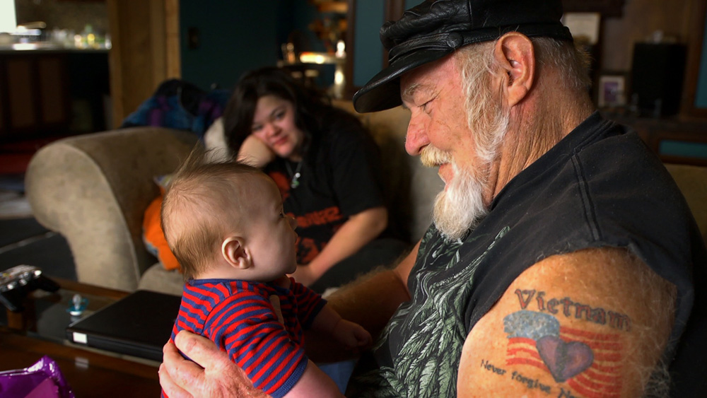 """Ron Hall and his daughter and granddaughter in """"Stray Dog"""""""