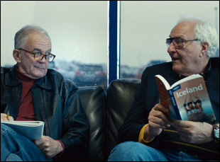 """Earl Lynn Nelson and Paul Eenhorn in """"Land Ho!"""""""