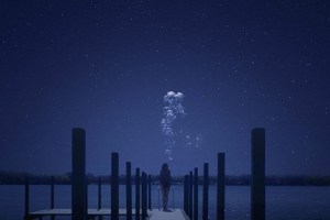 "Lindsay Burdge in ""The Midnight Swim"""