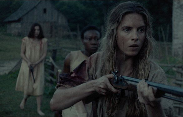 "Hailee Steinfeld, Brit Marling and Muna Otaru in ""The Keeping Room"""