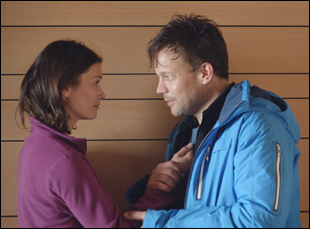"Johannes Bah Kuhnke and Lisa Loven Kongsli in ""Force Majeure"""