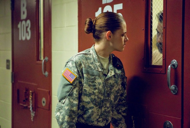 "Kristen Stewart and Peyman Moaadi in ""Camp X-Ray"""