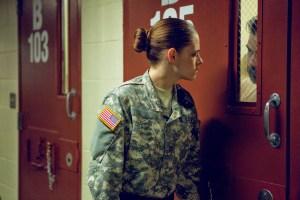 "Kristen Stewart and Peyman Moaadi in ""Camp X-Ray"""