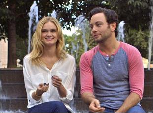"Sara Paxton and Jonathan Sadowski in ""All Relative"""