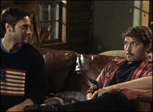 "Ryan Eggold and Beck Bennett in ""Beside Still Waters"""