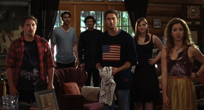 """Ryan Eggold, Erin Darke, Beck Bennett, Brett Dalton, Will Brill, Jessy Hodges in """"Beside Still Waters"""""""