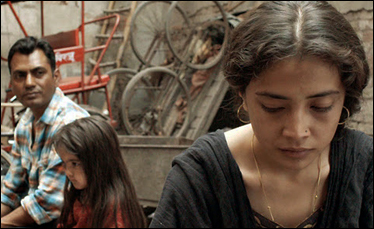 "Nawazuddin Siddiqui and Geetanjali Thapa in ""Liar's Dice"""