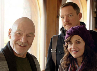 "Patrick Stewart, Matthew Lillard and Carla Gugino in ""Match"""