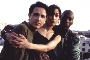 "Craig Chester, Illeana Douglas and Carlton Wilborn in ""Grief"""