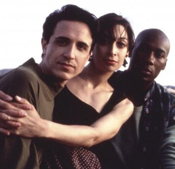 "Craig Chester, Illeana Douglas and Carlton Wilborn in ""Grief"""