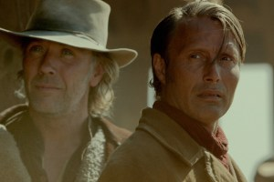 "Mikael Persbrandt and Mads Mikkelsen in ""The Salvation"""