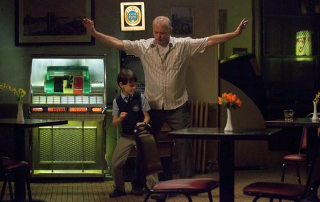 """Jaeden Lieberher and Bill Murray in """"St. Vincent"""""""