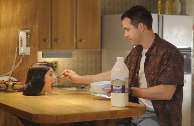 """Ryan Reynolds and Gemma Arterton in """"The Voices"""""""