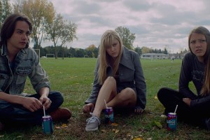 "Keir Gilchrist, Maika Monroe and Olivia Luccardi in ""It Follows"""