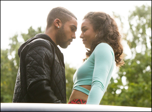 """Jessica Sula and Lucien Laviscount in """"Honeytrap"""""""
