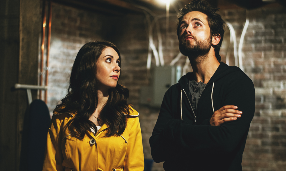 """Alison Brie and Justin Chatwin in """"No Stranger Than Love"""""""
