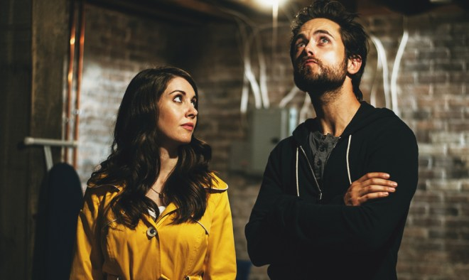 "Alison Brie and Justin Chatwin in ""No Stranger Than Love"""