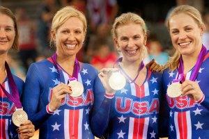 """Jennie Reed, Sarah Hammer, Lauren Tamayo, Dotsie Bausch in """"Personal Gold"""""""