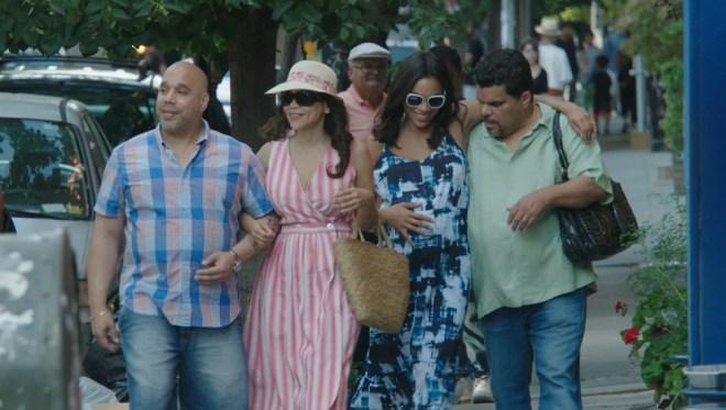 """Edgar Garcia, Rosie Perez, Rosario Dawson and Luiz Guzman in """"Puerto Ricans in Paris"""""""