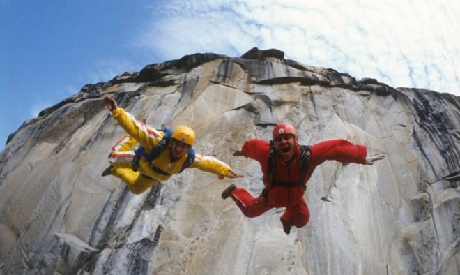"""Jean and Carl Boenish in """"Sunshine Superman"""""""