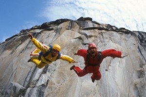 "Jean and Carl Boenish in ""Sunshine Superman"""