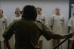"A scene from ""Stanford Prison Experiment"""