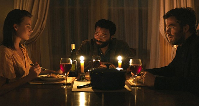 """Margot Robbie, Chiwetel Ejiofor and Chris Pine in """"Z for Zachariah"""""""