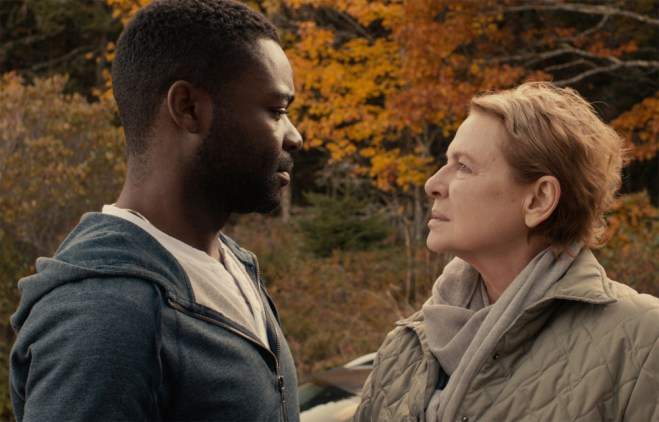"David Oyelowo and Dianne Wiest in ""Five Nights in Maine"""
