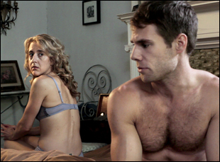 "Jenn Harris and Matthew Wilkas in ""Gayby"""