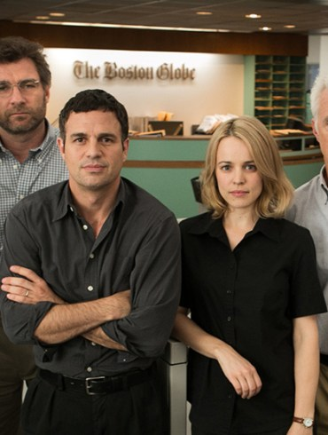 "Michael Keaton, Liev Schreiber, Mark Ruffalo, Rachel McAdams, Brian d'Arcy James, John Slattery and Mark Ruffalo in ""Spotlight"""