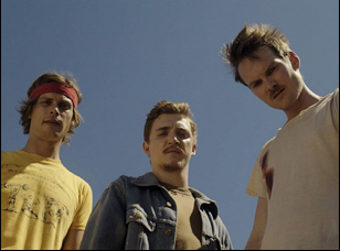 "Matthew Gray Gubler, Kyle Gallner and Adam Nee in ""Band of Robbers"""
