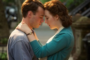 "Emory Cohen and Saoirse Ronan in ""Brooklyn"""