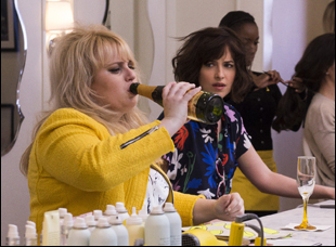 "Rebel Wilson and Dakota Johnson in ""How to Be Single"""
