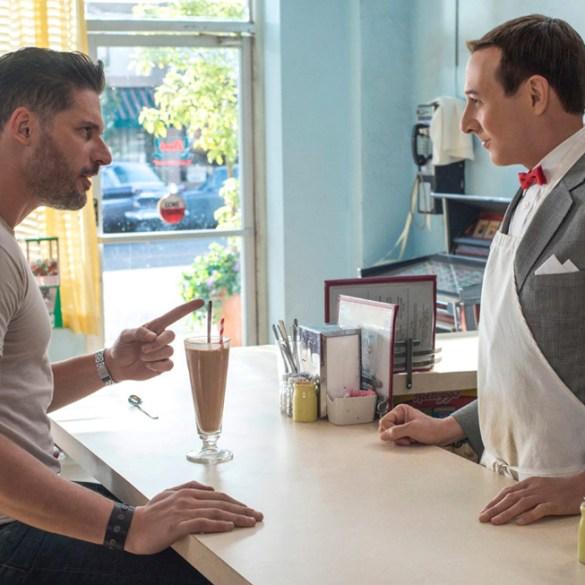 "Joe Manganiello and Paul Reubens in ""Pee Wee's Big Holiday"""