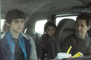"Craig Roberts, Paul Rudd and Selena Gomez in ""The Fundamentals of Caring"""