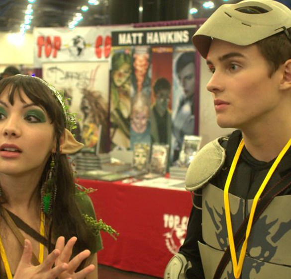"Hannah Marks and Michael Johnston in ""Slash"""