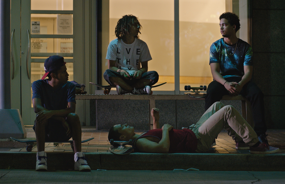 "Jorge Lendeborg Jr., Moises Arias, Rafi Gavron, Ezri Walker in ""The Land"""